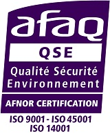 Certification ISO9001 ISO 14001 OHSAS 18001